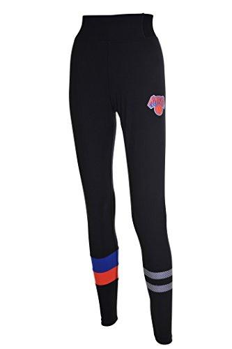 NBA New York Knicks Women's Leggings Perimeter Fitness Sport Yoga Pants, X-Large, Black