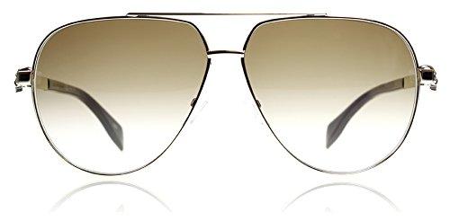 Alexander McQueen AM0018S 002 Gold Brown AM0018S Aviator Sunglasses Lens - Sunglass Mcqueen Alexander