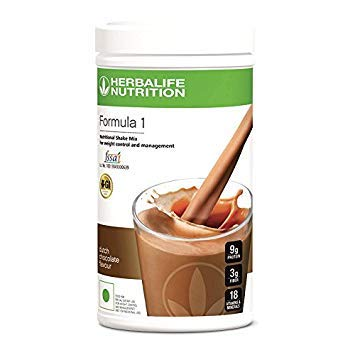 Herbalife Formula 1 Shake Nutritional Mix - 500 Grams - Healthy F1 Nutritional Meal Replacement Protein Powder Diet - Weight Loss Supplements for Men and Women (Chocolate) (Total Control Herbalife Packs)