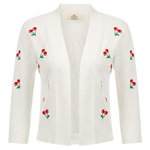 cheap for discount b6330 a3d33 GRACE KARIN Strickjacke Damen Langarm Outwear Kurz Cardigan ...