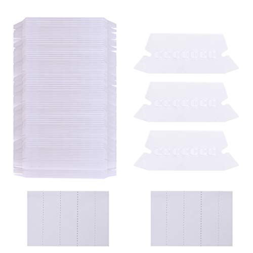 (Aunifun 250 Sets Hanging File Folders Tabs and Inserts White Label Inserts for Letter Size Files Folder Organizer Quick Identification, 2 Inch Hanging File Inserts)