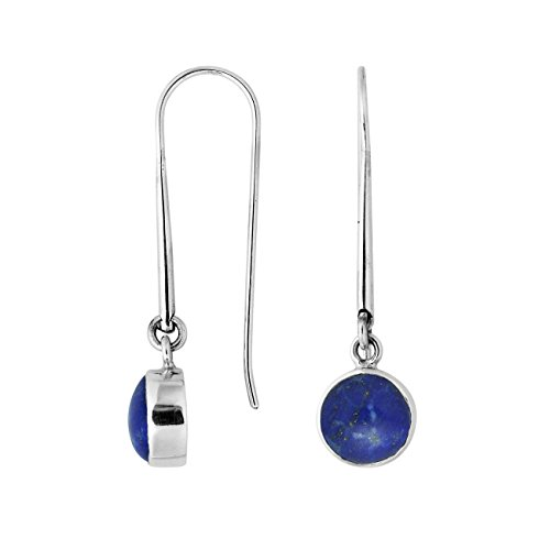 Bali Designs Sterling Silver Round Shape Earring with Lapis AE-6158-LP ()