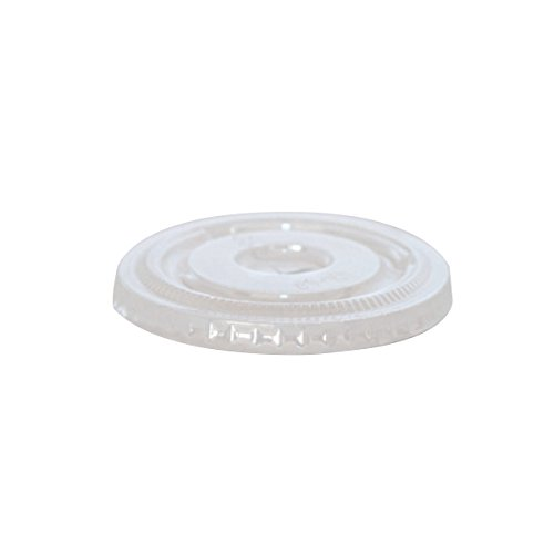 Clear Recyclable Lid for Souffle Cups (Case of 125), PacknWood - Transparent Recycled Plastic Lids (2.4