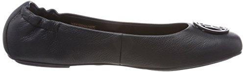 Flexible Tommy Midnight 403 Blu Ballerine Leather Hilfiger Donna SwrU5wF7q