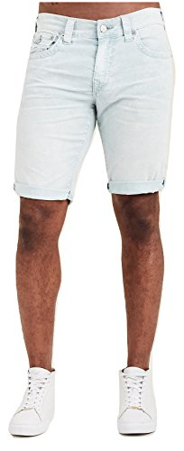 (True Religion Men's Ricky Straight Corduroy Shorts w/Flaps In Morning Blue (31))