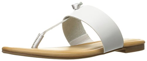 Memory Women's T White Knot Slip Insole Sandal Rampage Paddy On Silver Bar Thong Foam 4qxUdYf