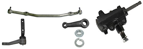 NEW 68-72 GM A-BODY MANUAL STEERING KIT WITH STEERING BOX, PITMAN ARM, IDLER ARM, AND CENTER LINK, 1968, 1969, 1970, 1971, 1972 CHEVELLE, EL CAMINO, CUTLASS, GTO, ETC. (Manual Steering Pitman Arm)
