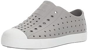 Native Kids Jefferson Junior Water Proof Shoes, Pigeon Grey/Shell White, 3 Medium US Little Kid