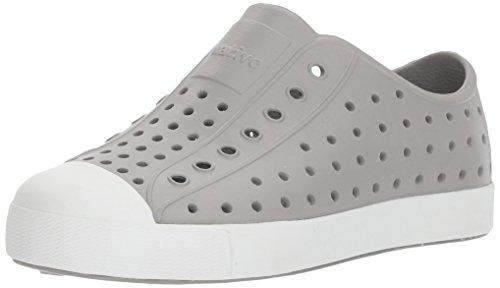 Native Kids Jefferson Junior Water Proof Shoes, Pigeon Grey/Shell White, 2 Medium US Little Kid
