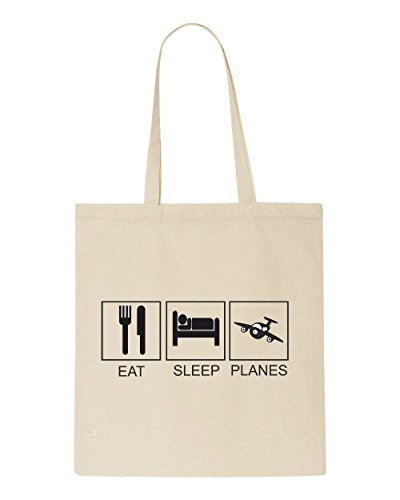 Beige Planes Sleep Funny Tote Bag Tiles Shopper Hobby Eat Activity 7qw6F