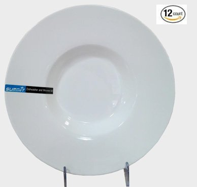 Super White Wide Rim Porcelain Pasta Bowl ( 12 Count) 11