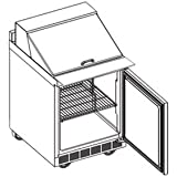 Delfield ST4427N-12M Mega Sandwich/Salad Top Refrigerator