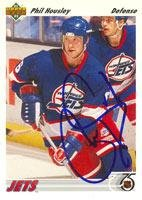 Phil Housley Winnipeg Jets 1991 Upper Deck Autographed Card. This item comes with a certificate of authenticity from Autograph-Sports. Autographed