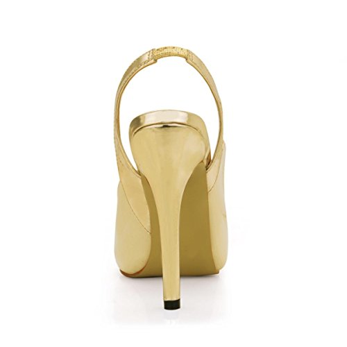 Autumn 11CM Spring Slingback Peep High Leather Best Heels Patent Heel Rubber Beige Women's 4U Shoes 1CM Stiletto Toe Platform Sole qT7xTRBw
