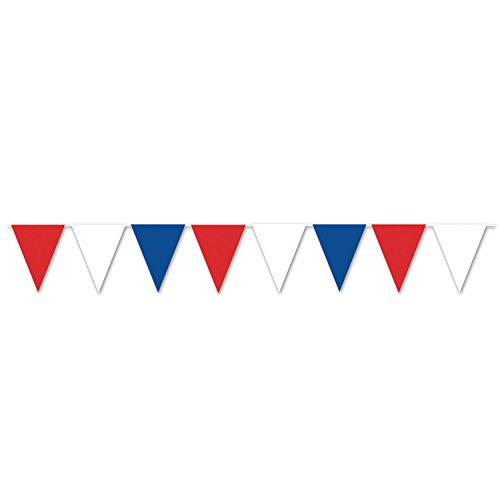 Beistle 50707-RWB Pennant Banner, 11