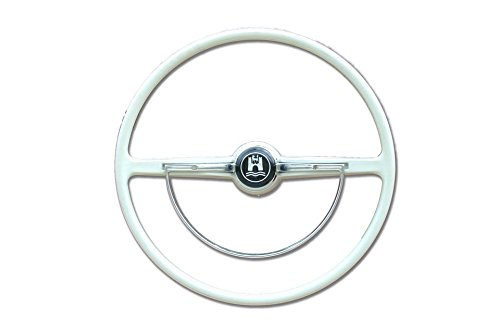 Airhead Parts Brand 1962-1971 VW Bug, Ghia, Type 3 Steering Wheel, Complete, Ivory 311-498-651 D - Bug Vw Wheel Steering
