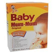 Hot Kid Baby Mum-Mum Original Flavor Rice Biscuit, 24-Count (Pack of 6) ( Value Bulk Multi-pack)
