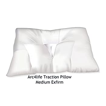 Image of Arc4life Neck Support Cervical Pillow for Sleeping -Standard Firm Bed Pillows for Side and Back Sleeper for Neck and Shoulder Pain (Traction Medium 24'x17' Xfirm Pillow) Neck & Cervical Pillows