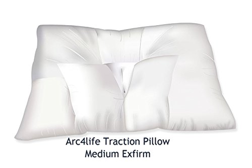 """Arc4life Neck Support Cervical Pillow for Sleeping -Standard Firm Bed Pillows for Side and Back Sleeper for Neck and Shoulder Pain (Traction Medium 24""""x17"""" Xfirm Pillow)"""