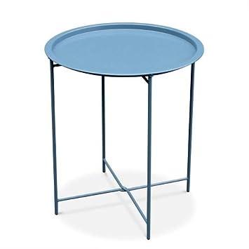 Bleu Grisé Table Ronde D Garden Basse Alice's Alexia Ok8nP0Xw