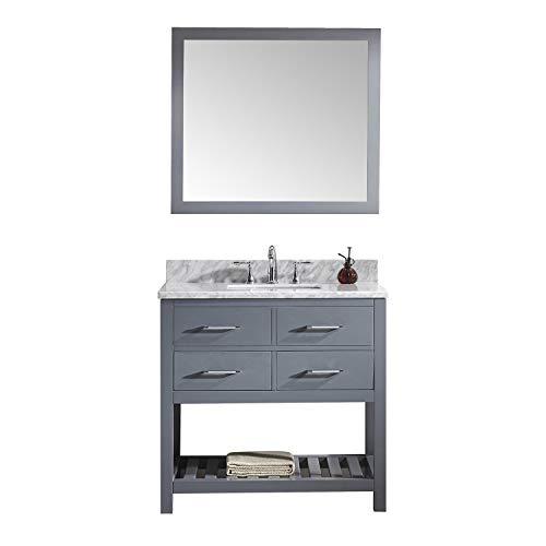Virtu USA Caroline Estate 36 inch Single Sink Bathroom Vanity Set in -
