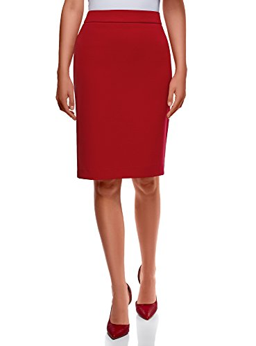 a oodji Tubino Gonna Donna 4501n Basic Collection Rosso XrwzrqI