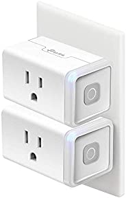 Kasa Smart Plug, WiFi Outlet works with Alexa, Echo and Google Home, No Hub Required, Remote Control, 12 Amp,
