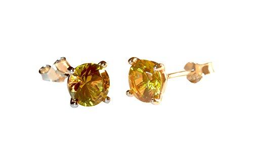 Stud earrings 925 sterling silver stud earrings alexandrite changing color gem fine jewelry silver earrings