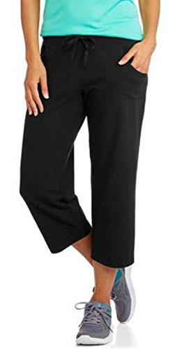 Danskin Now Womens Active Knit Capri (Black Soot size Small) Danskin Straight Leg Pants