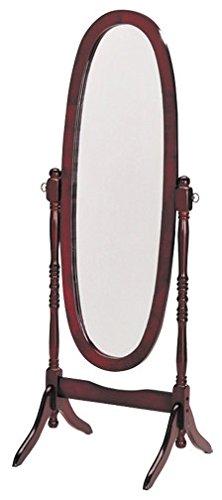 Espresso Finish Wooden Cheval Bedroom Floor Mirror (Cherry Oval) ()