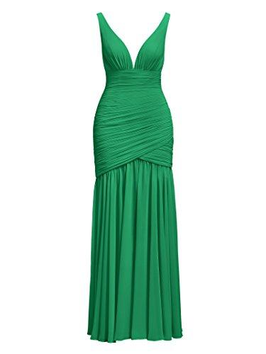 Dresses Party Alicepub Sexy Bridesmaid V Emerald Neck Prom Chiffon Dress Evening Wedding Cocktail YY8fwx