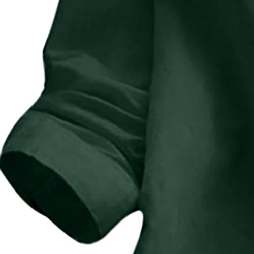Vert T Col Haut Taille Décontractée En Pull Printemps Imjono Vrac Grande Shirt Coton shirt Debout Longues Chemisier Couleur Et Top Femme nbsp;chemisier Lin Manches Unie pxzBwxqSZ