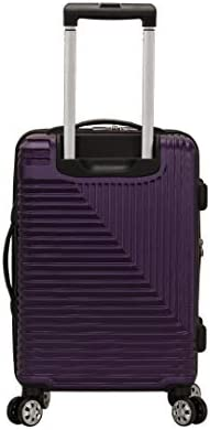 Rockland Star Trail Hardside Spinner Wheel Luggage, Purple, Carry-On 20-Inch