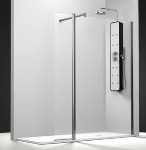 Mampara de ducha Serie Bo con 1 panel fijo y un contraventana giratoria interior y exterior: Amazon.es: Bricolaje y herramientas