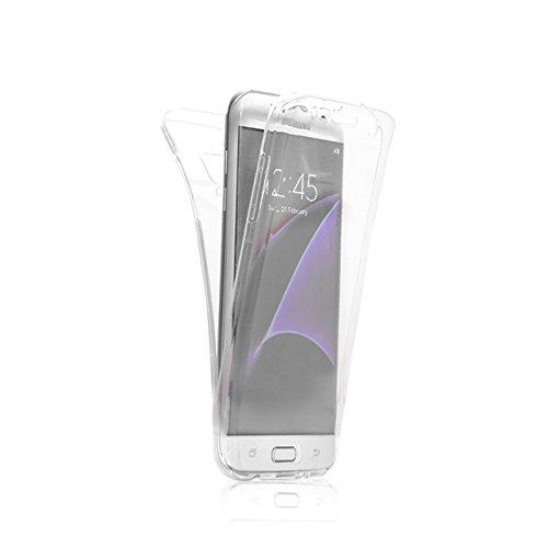 Funda tapa trasera para Samsung Galaxy S5, Vandot Funda 360 Doble Delantera + Trasera Transparente Silicona Gel Integral para Galaxy S5, Two Cristal Crystal Centelleo Cover Funda Caja del TPU Silicona Bling Clear