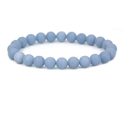 te Gemstone 8mm Round Beads Stretch Bracelet 7