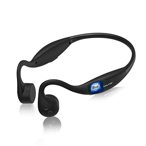 Bone Conduction Headphones, Ralyin Open Ear Headphones with Mic,Built in 8GB Memory SD Card Noise Cancellation Earphones…