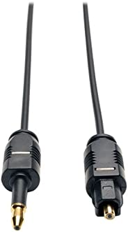 TRIPP LITE A104-03M Cabo de áudio Toslink para Mini Toslink Digital SPDIF 3M, preto