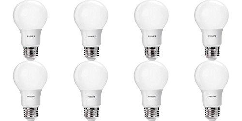 8 Pack - Great Value - Philips LED Light Bulb 60W Equivalent 2700K Soft White