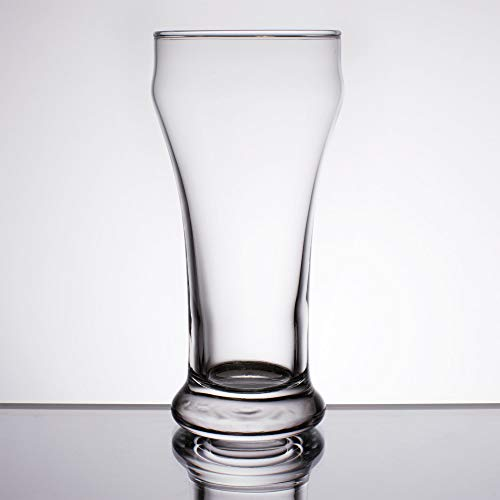 (Set of 6 Libbey # 13 Heavy Base 10 oz Pilsner Glass w/ Signature Party Picks)
