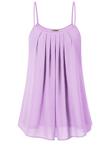 Womens Summer Tops ,Hibelle Women's Latest Clothes Stylish Pleated Loose Summer Cool Casual A Line Tank Top Blouse Shirt Plus Size Purple XXL