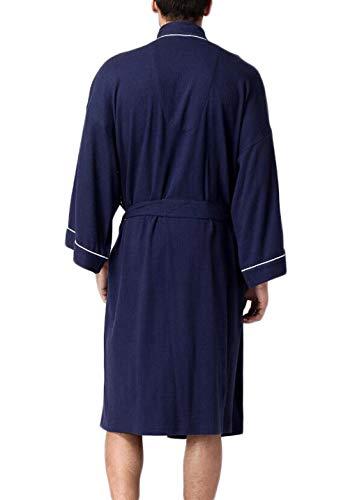Gray Bagno Pigiama In Da Spa Confortevole Robes Xl Dimensioni Blu Cotone colore Uomo Dafrew Accappatoio zZq60Uw