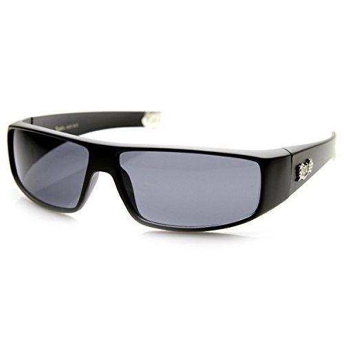 Flat Top Wrap OG Gangsta Hardcore Locs Sunglasses (Matte-Black)