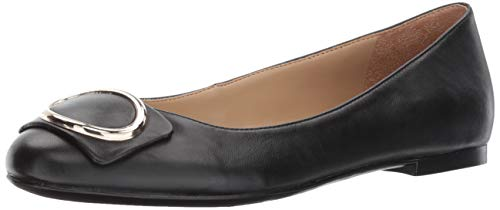 Naturalizer Women's GEONNA Ballet Flat, Black, 8 M US