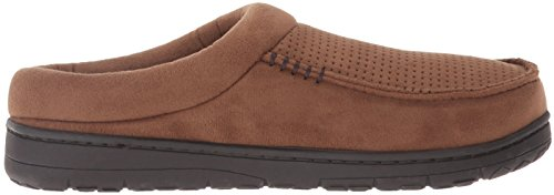 Slipper Men's Perforated Suede Microfiber Clog Chestnut Dearfoams qUXFw5dxF