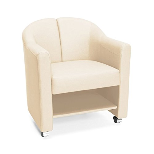 OFM 880-LIN Mobile Club Chair, Linen - Club Chair Casters