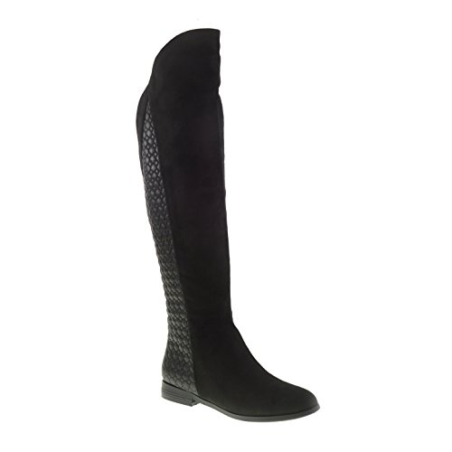Chinese Laundry Racer Micro Suede Over The Knee Quilted Boot Flat Boot