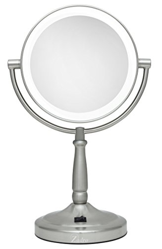 Zadro Cordless Dual-Sided LED Lighted Vanity Mirror, Satin -