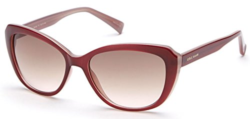 Cole Haan C6154 71 Auburn/Froth Cat Eye Womens Sunglasses Brown Lens (Cole Haan Women Sunglasses)