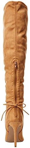Qupid Women's's Interest - 167xx Sandales à talons camel léopard
